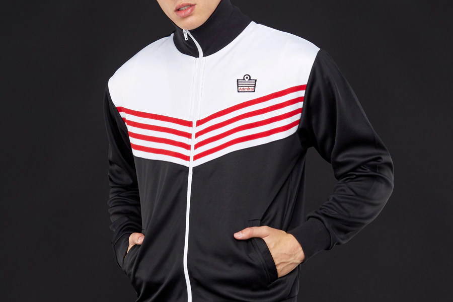 Admiral 1976 Track Jacket - Black / White / Red