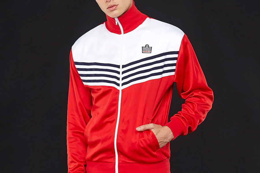 Admiral 1976 Track Jacket - Red / White / Navy