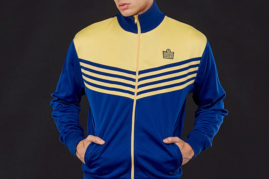 Admiral 1976 Track Jacket - Royal / Lemon / Royal