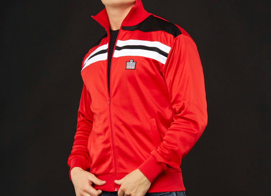 Admiral 1982 Track Jacket - Red / Black / Red
