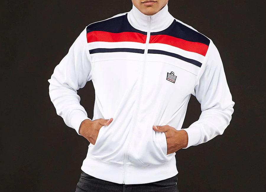 Admiral 1982 Track Jacket - White / Navy / Red
