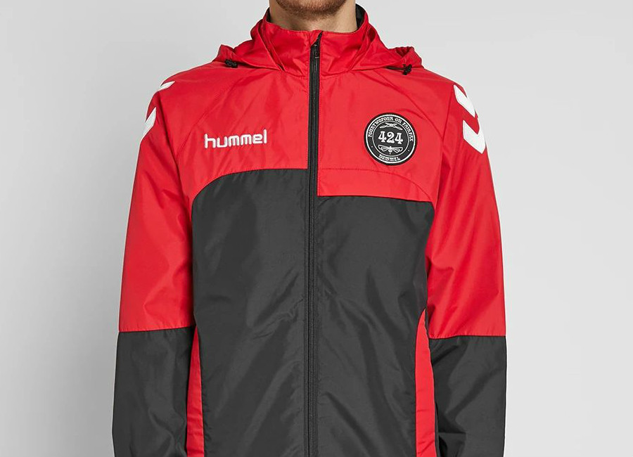 424 X Hummel Daddy Micro Zip Jacket - True Red