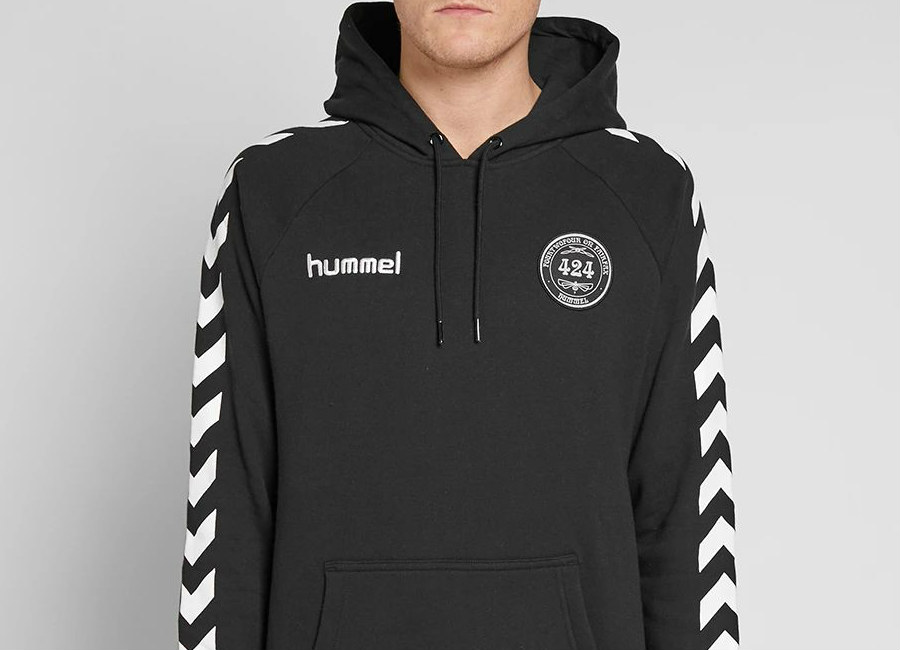 424 X Hummel Terry Cotton Hoody - Black