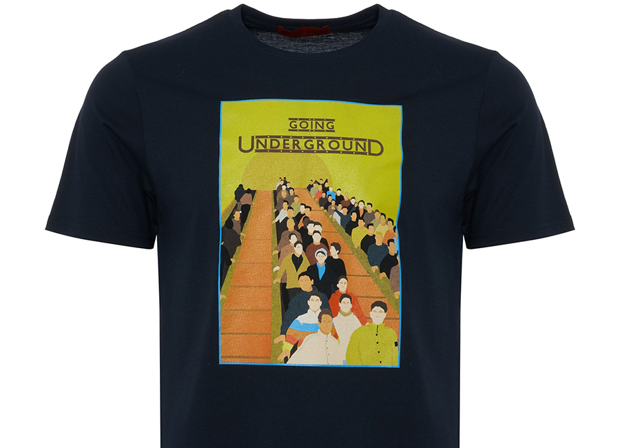 80's Casuals - Going Underground T-shirt - Navy