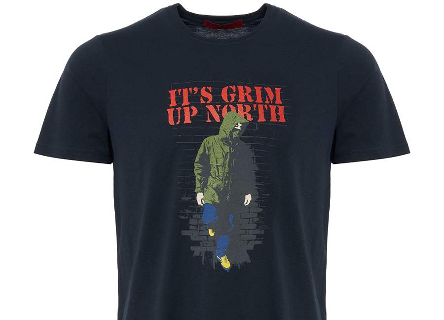 80's Casuals - It's Grim Up North T-Shirt - Navy