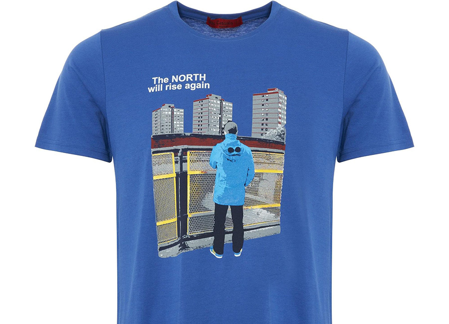 80's Casuals - The North Will Rise Again T-Shirt - Blue