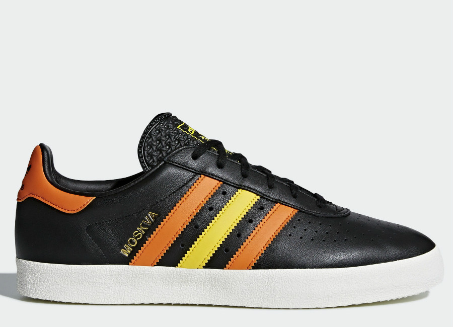 Adidas 350 Shoes - Core Black / Orange / Eqt Yellow