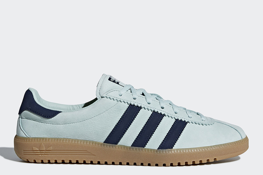 Adidas Bermuda Shoes - Ash Green / Collegiate Navy / Gum