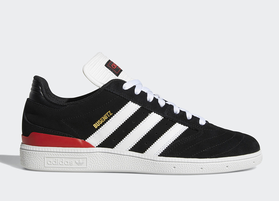 Adidas Busenitz Pro Shoes - Core Black / Ftwr White / Scarlet