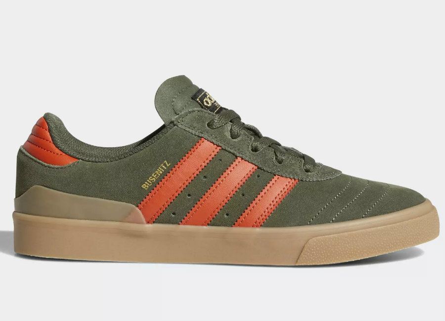 Adidas Busenitz Vulc Shoes - Base Green / Raw Amber / Gum