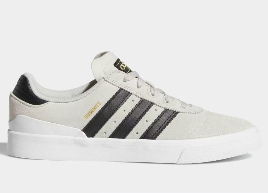 Adidas Busenitz Vulc Shoes - Crystal White / Core Black / Ftwr White