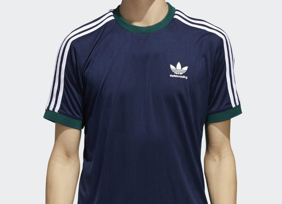 Adidas Clima Club Jersey -  Night Indigo / Collegiate Green / White