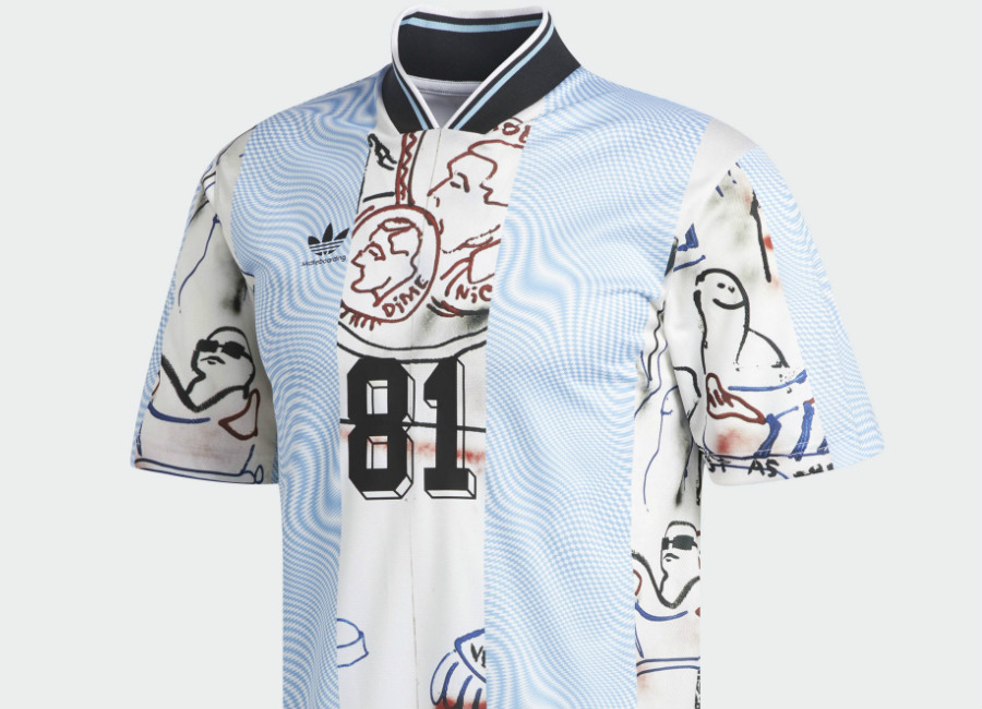 Adidas Gonzales Jersey - Black / White / Clear Blue / Multicolor