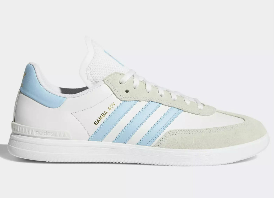 Adidas Samba ADV Shoes - Crystal White / Clear Blue / Ftwr White