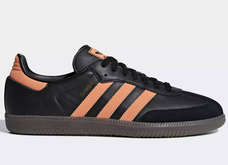 Adidas Samba OG - Black / Orange / Gum