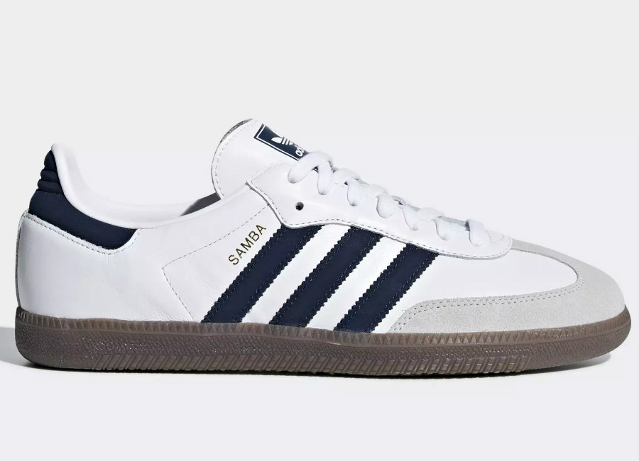 Adidas Samba OG Shoes -Ftwr White / Collegiate Navy / Crystal White