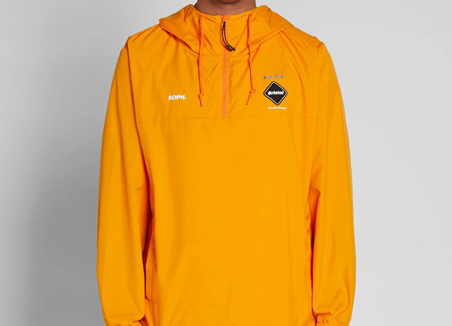 FC Real Bristol Half Zip Anorak - Orange