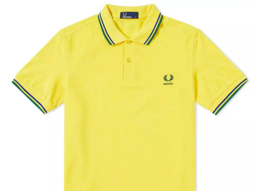 Fred Perry Brazil Country Polo Shirt - Vibrant Yellow