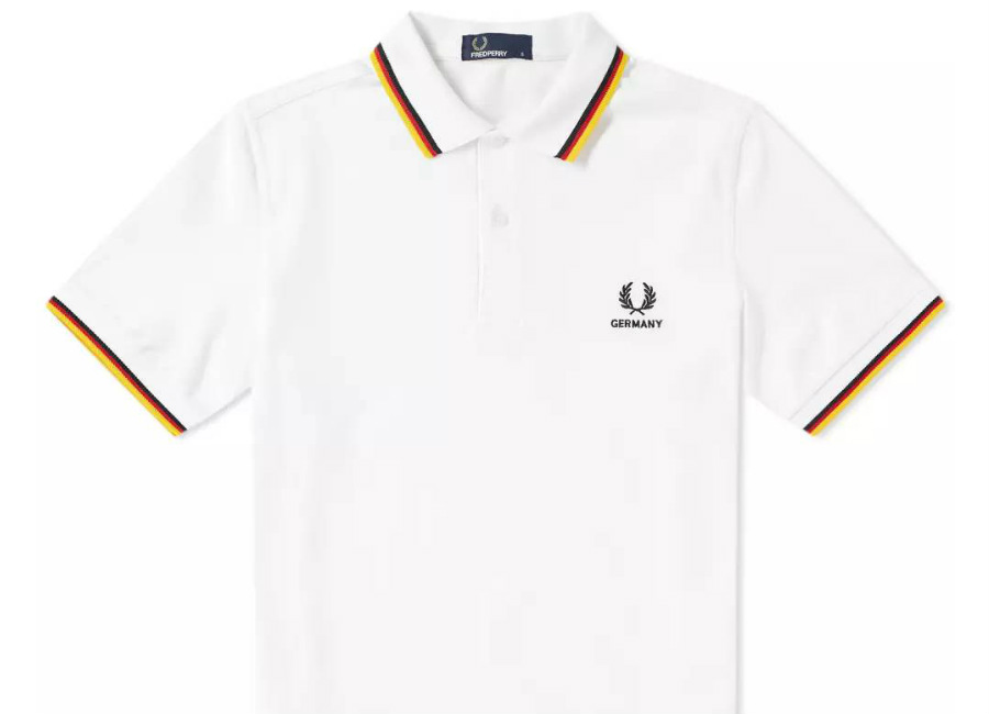 Fred Perry Germany Country Polo Shirt - White
