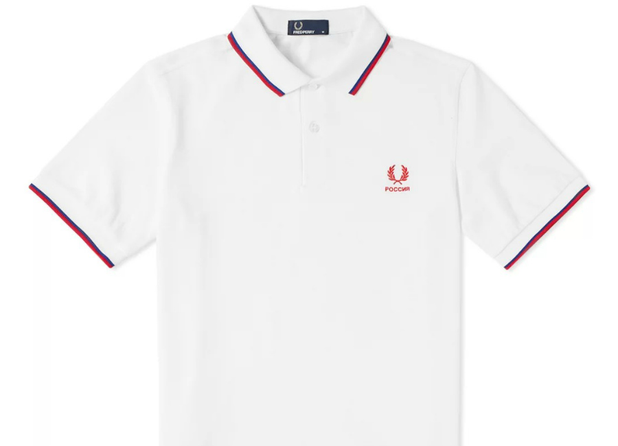 Fred Perry Russia Country Polo Shirt - White