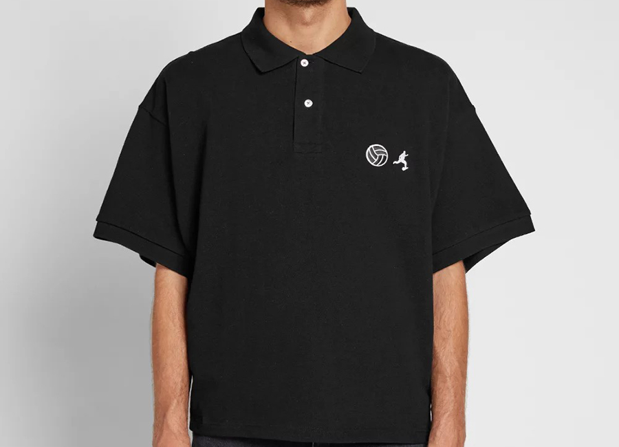 Gosha Rubchinskiy Football Polo - Black