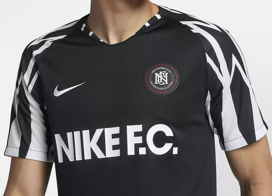 Nike F.C. Football Shirt - Black / White / White