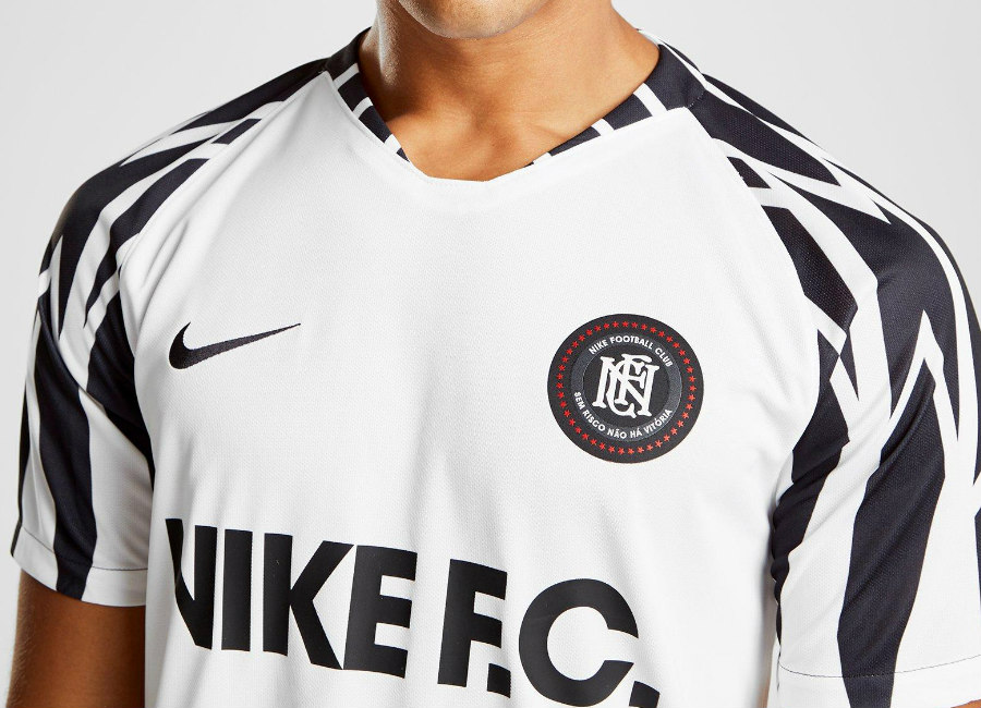 Nike F.C. Football Shirt - White / Black / Black