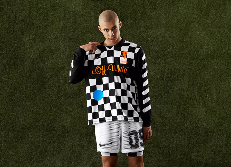 Nike X Off-White Football Away Jersey - Black / Total Orange