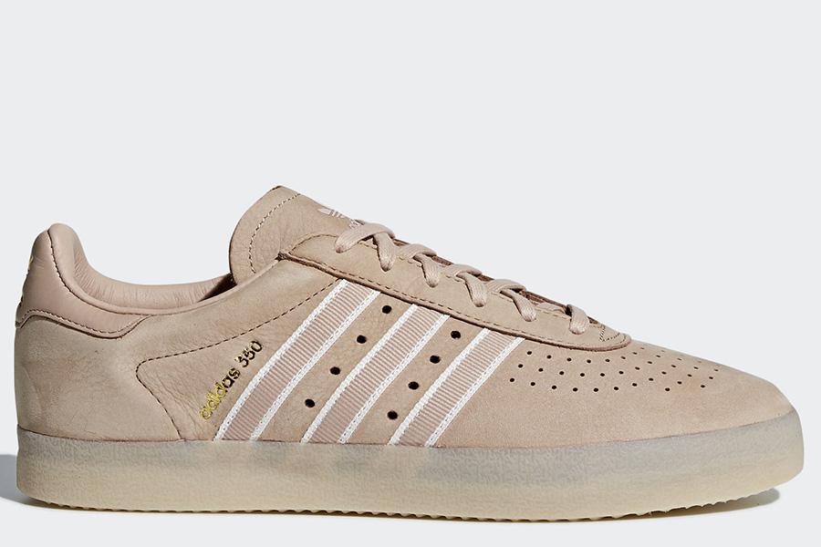 Oyster Holdings Adidas 350 Shoes - Ash Pearl / Chalk White / Gold Metallic