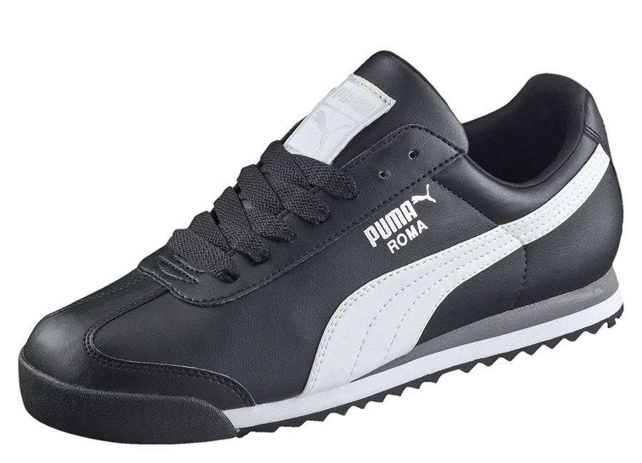 Puma Roma Basic Trainers - Black / White / Puma Silver