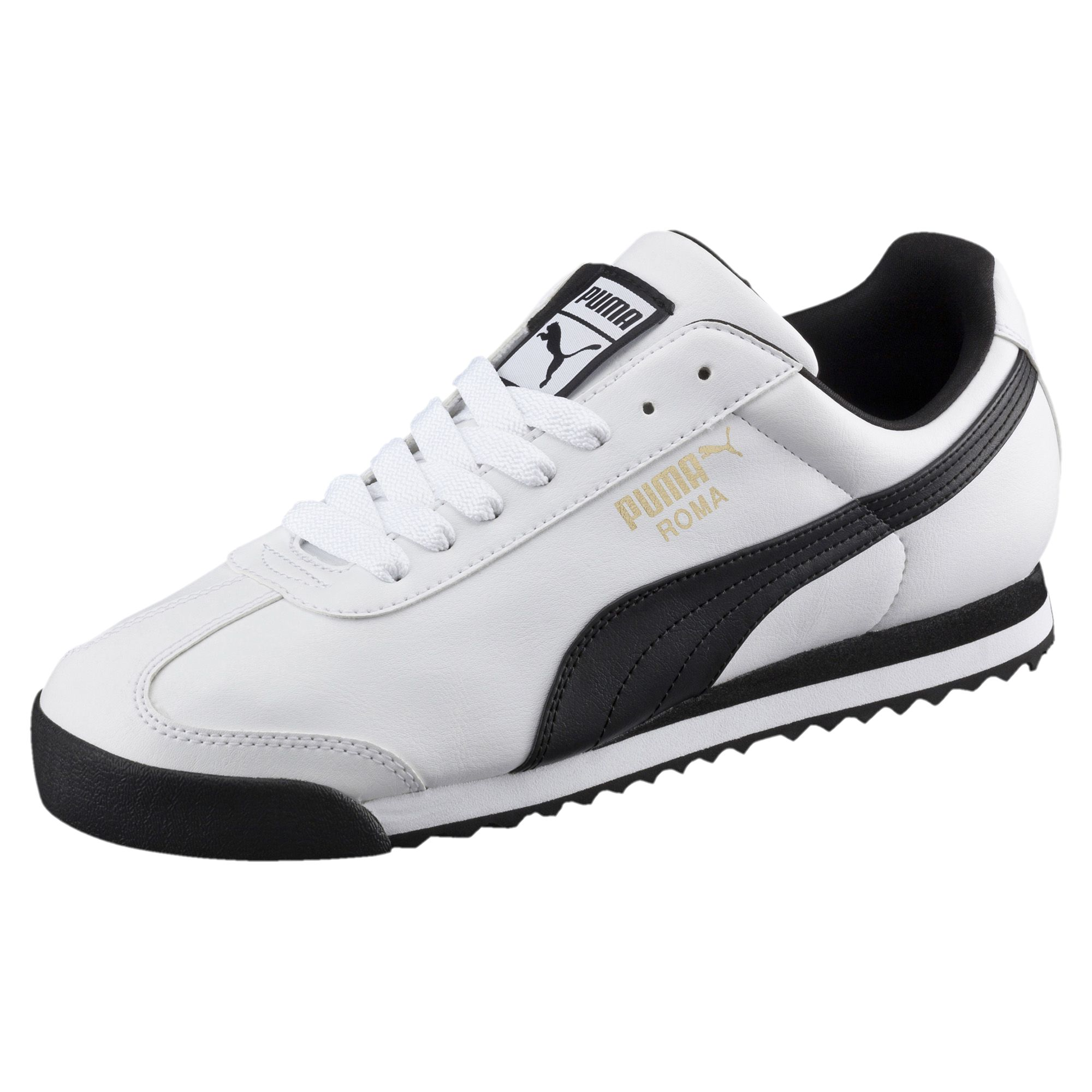 Puma Roma Basic Trainers - White / Black