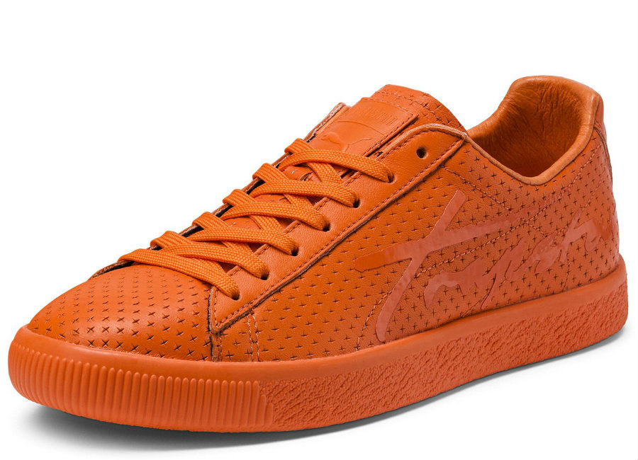 Puma X Trapstar Clyde Perforated - Golden Poppy / Golden Poppy