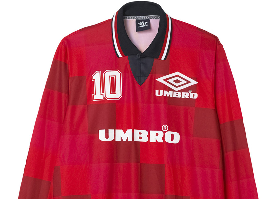 Umbro Monaco LS Football Tee - Lava