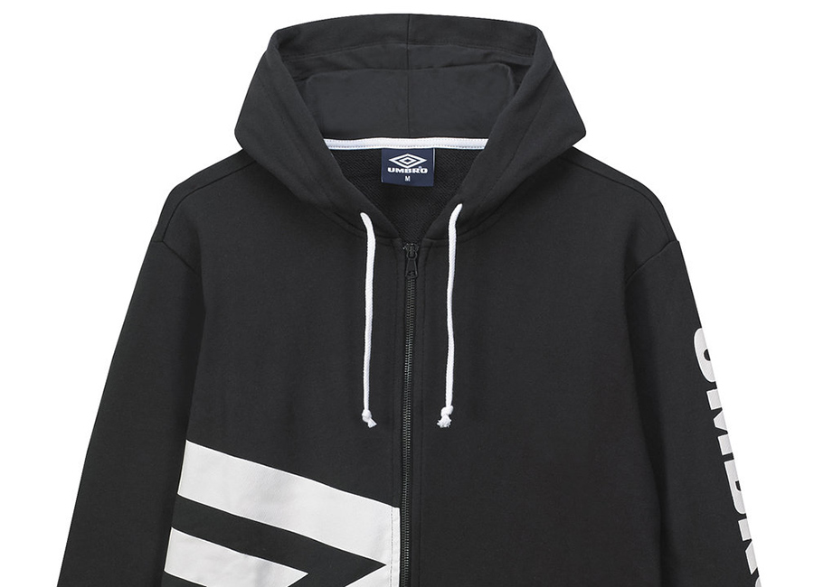 Umbro Side Logo Hoody - Black