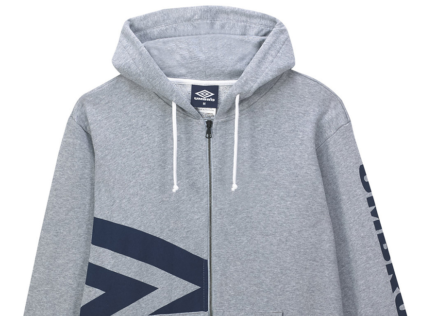 Umbro Side Logo Hoody - Grey Marl