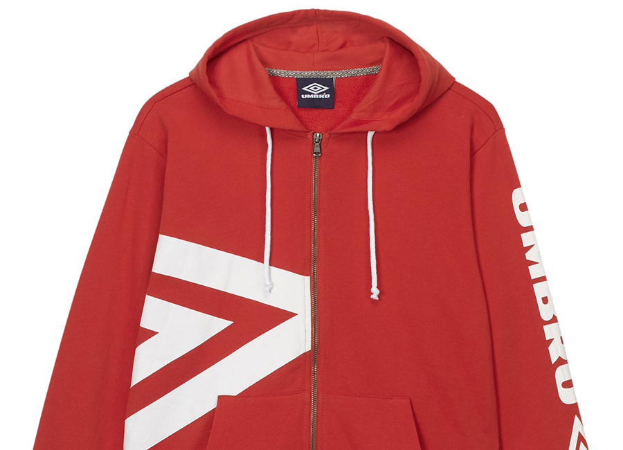 Umbro Side Logo Hoody - Red