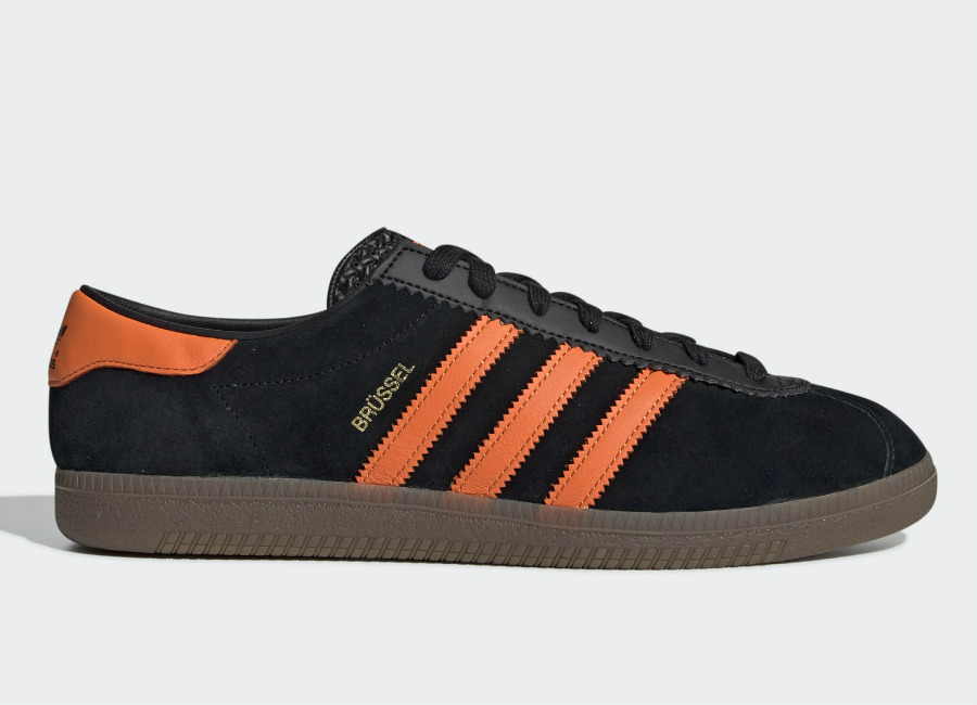 Adidas Brussels Shoes - Core Black / Orange / Gold Met #adidasfootball #adidasbrussels