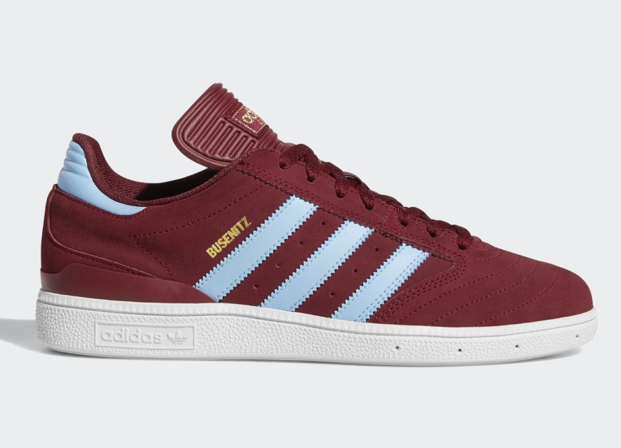 Adidas Busenitz Pro Shoes - Collegiate Burgundy / Clear Blue / Ftwr White