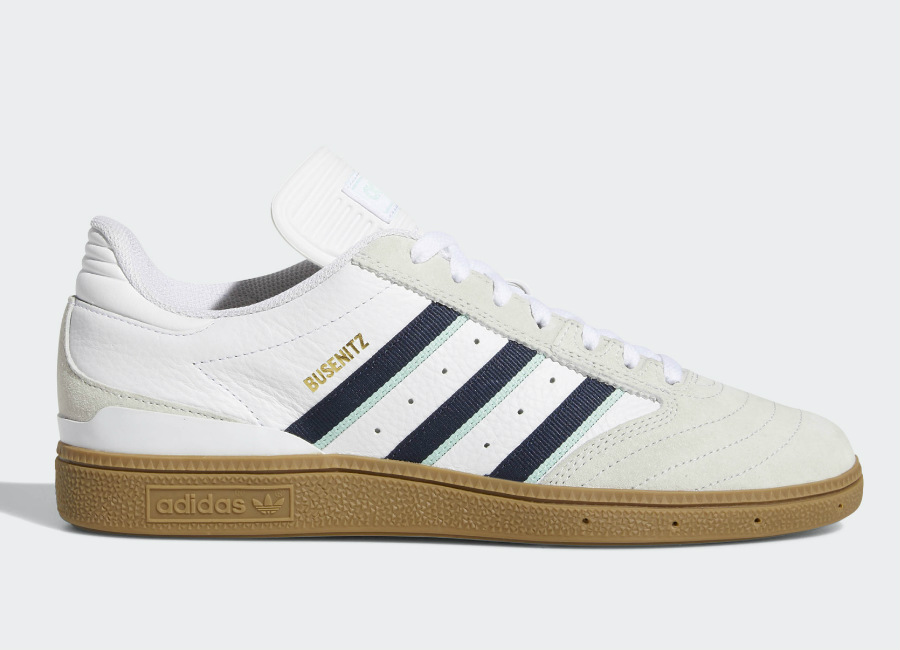 Adidas Busenitz Pro Shoes - Ftwr White / Collegiate Burgundy / Clear Mint