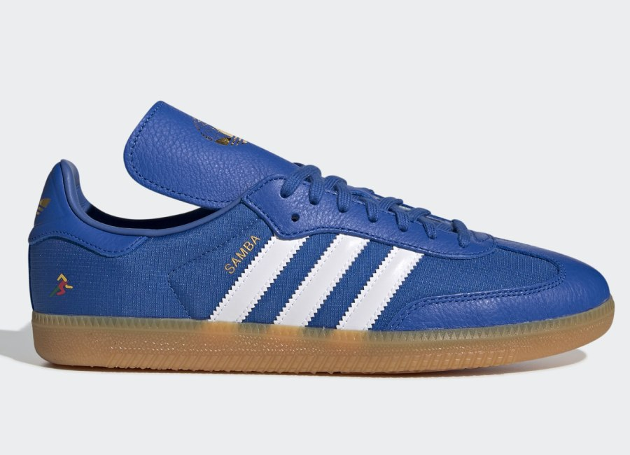 Adidas Oyster Holdings Samba Og Shoes - Blue / Ftwr White / Gold Met
