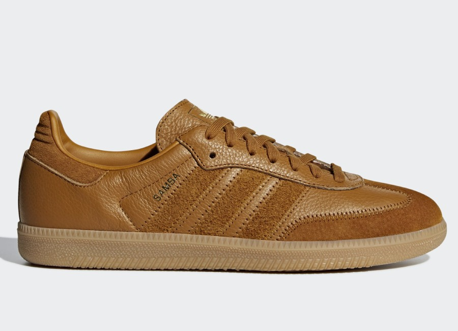 Adidas Samba OG FT Shoes - Craft Ochre / Craft Ochre / Gold Met