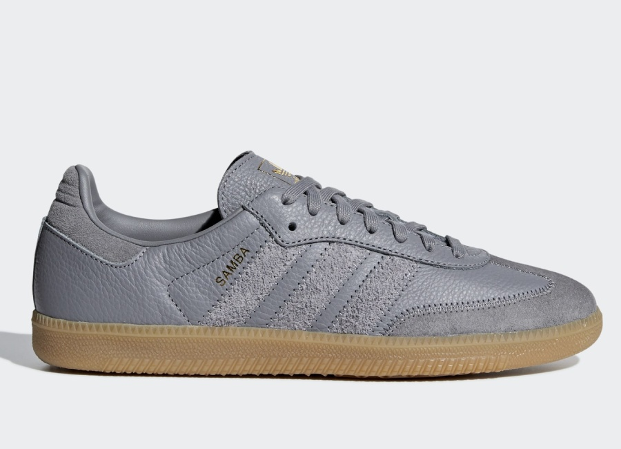 Adidas Samba OG FT Shoes - Grey Three / Grey Three / Gold Met