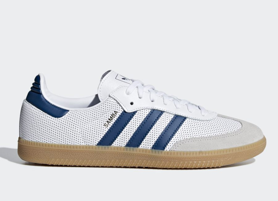 Adidas Samba OG Shoes - Ftwr White / Legend Marine / Grey One