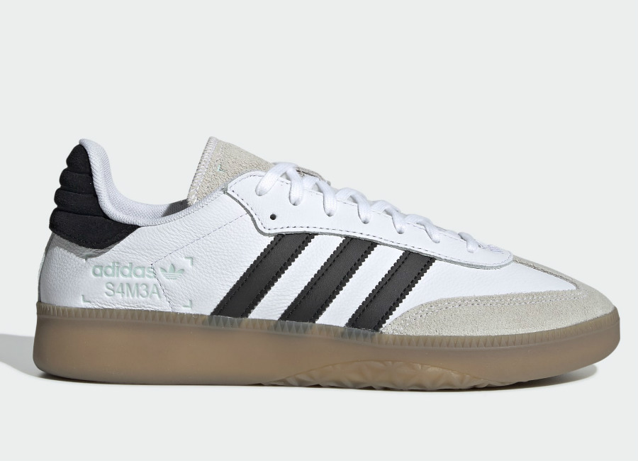 Adidas Samba Rm Shoes - Ftwr White / Core Black / Clear Mint