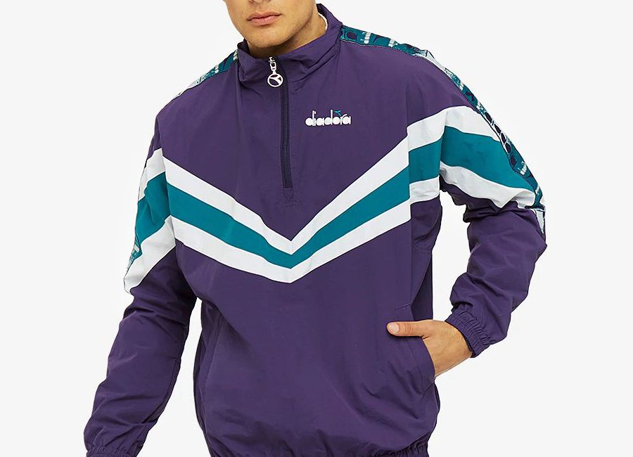 Diadora Jacket 1/2 Zip MVB - Mulberry Purple