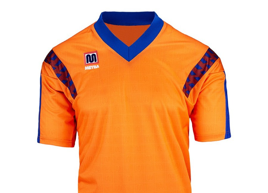 Meyba Barcelona Away Wembley Shirt 1992 - Orange #barca