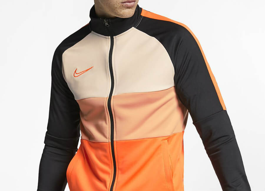 Nike Dri-FIT Academy Football Jacket - Black / Guava Ice / Total Orange / Total Orange