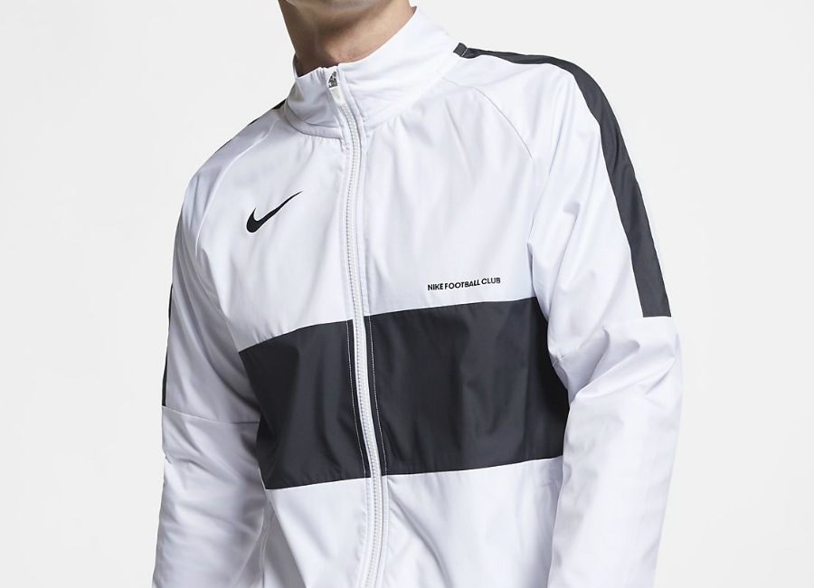 Nike F.C. Football Jacket - White / White / Black / Black