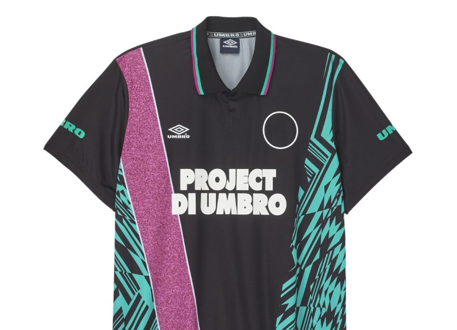 Umbro Azteca Football Jersey - Black / Ceramic / Berry Pink