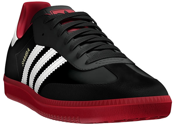 Adidas Samba - Black / Vivid Red / Running White
